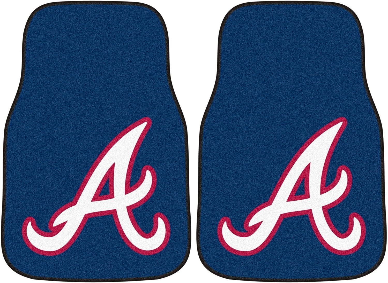 Set of Two Nylon Car MatsAtlanta Braves Emblem