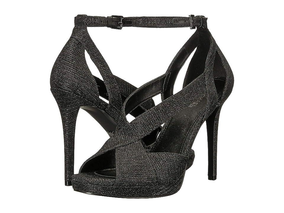 MICHAEL Michael Kors Becky Ankle Strap (Black/Black/Black) Women