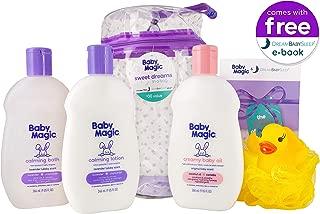Baby Magic Sweet Dreams in A Bag (1 Ea 9oz Calming Bath, 9oz Calming Lotion, 9oz Creamy Baby Oil, Duck Pouf, Free Dream Baby Sleep E-Book & Reusable Bag)