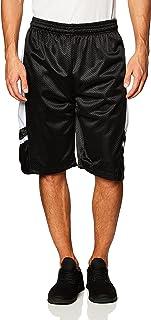SOUTHPOLE Men's Basic Active Basketball Mesh Shorts, Black