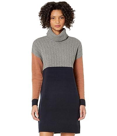 Madewell Turtleneck Sweaterdress in Color-Block (Navy) Women