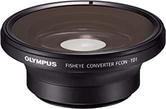 Olympus Fisheye Tough Lens Pack (lens and adapter) for TG-1, TG-2, and TG-3 Cameras (Black with Red Adapter) - International Version (No Warranty)