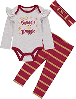 Baby Girls' Creeper Bodysuit with Pull on Pants and...