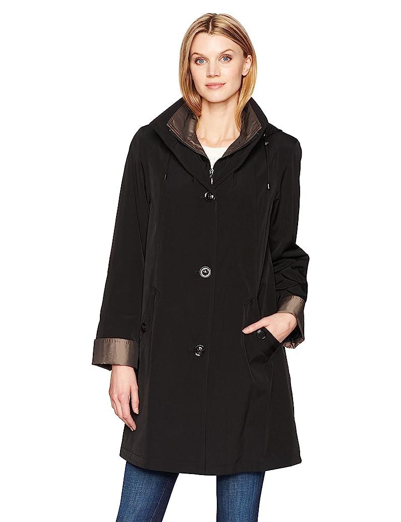 Gallery Women's Missy 3/4 A Line Rain Coat
