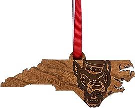 LazerEdge NC State Ornament - NC Map with Tuffy Head