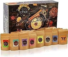 David Rio Chai Tee Adventskalender 2021   24x leckere Chai-Tees für jeden Tag im Advent   Matcha Vanille Zimt Decaf &...