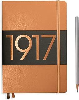LEUCHTTURM1917 Special Edition Metallic Copper Hardcover Journal, Medium (A5) 6 x 8 Inches - Plain/Blank