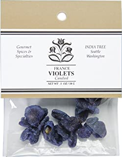 India Tree Candied Violets, .5 oz (Pack of 2)