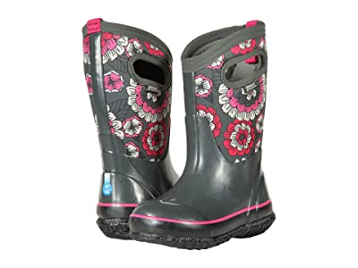 Bogs Kids Classic Pansies (Toddler/Little Kid/Big Kid) (Dark Gray Multi) Girls Shoes