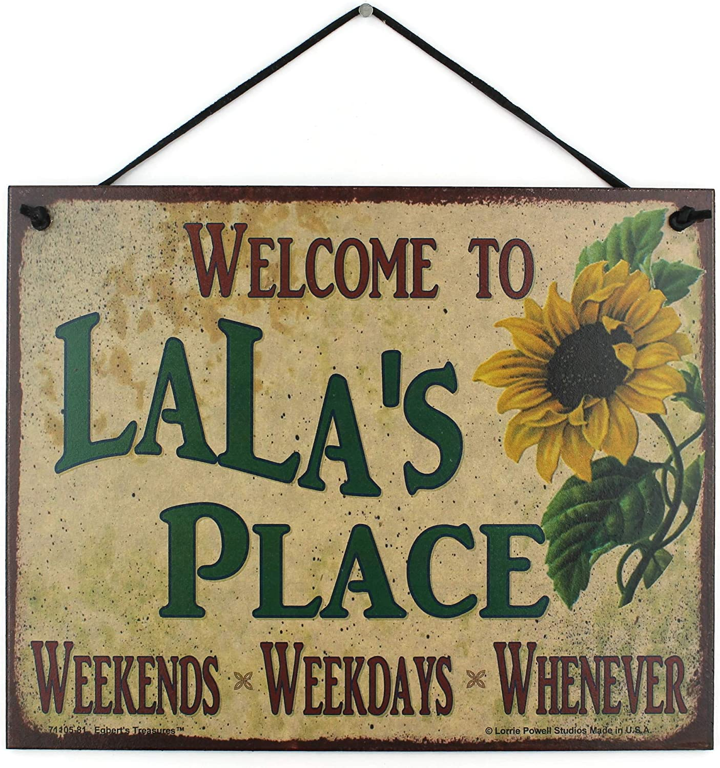 Egbert's Treasures 8x10 Vintage Style Sign Saying Sunflower with Super popular specialty store 100% quality warranty