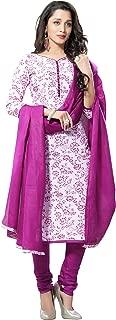 Minu salwar Cotton Printed Suit sets Pink(Pqueen_1009)