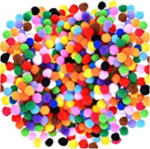 Acerich 2000 Pcs 1cm Assorted Pompoms Multicolor Valentine Day Arts and Crafts Fuzzy Pom Poms Balls for DIY Creative Craft...