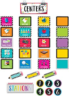 Creative Teaching Press Mini Bulletin Board Bold & Bright Classroom Centers (2173)
