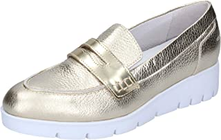 SUSIMODA Moccasins Womens Leather Silver
