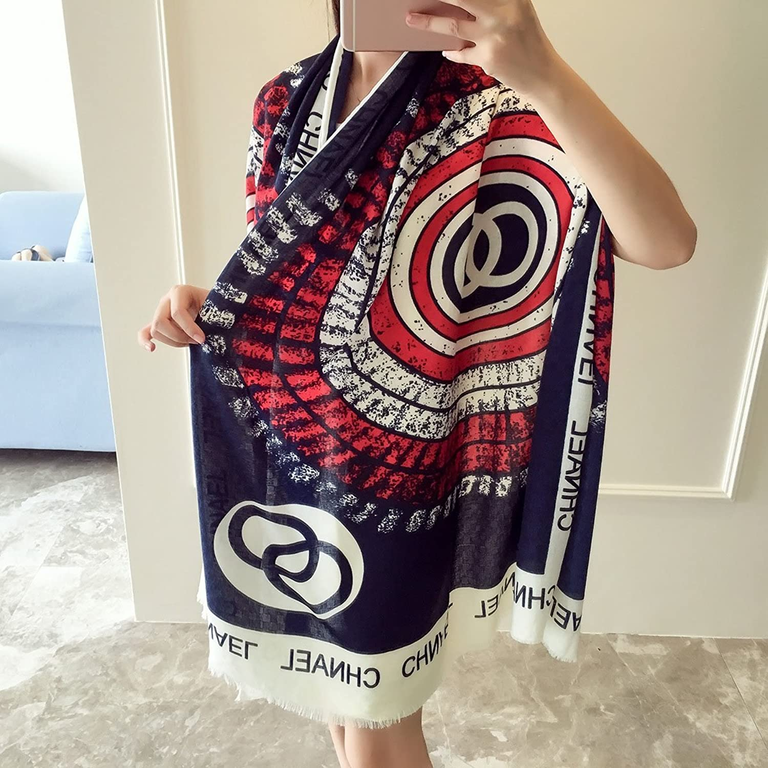 Lady's Shawl Beach Towel Scarves States Cycling Sunscreen Shawl Seaside Vacation Visor Spring And Autumn Beach Towel Decoration ( color   3 )