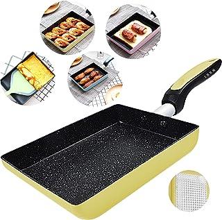 Tamagoyaki Japanese Omelette Pan/Egg Pan - Non-stick Coating - Rectangle Frying Pan Mini Frying Pan (Yellow)