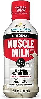 Muscle Milk Original Protein Shake, Vanilla Crème, 34g Protein, 17 FL OZ (Pack of 12)