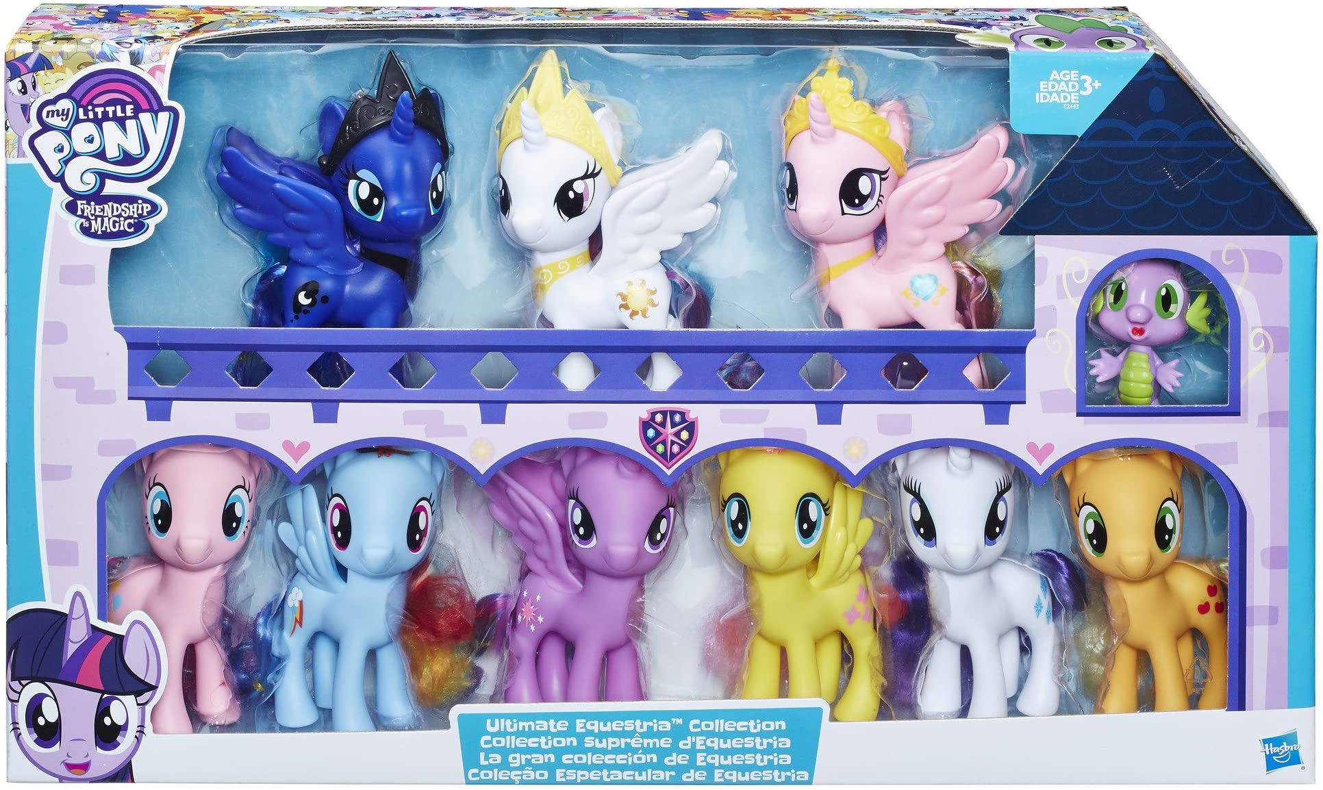 """My Little Pony E2443 Friendship is Magic Toys Ultimate Equestria Collection Spike the Dragon """" Kids Ages 3 and Up, Multicolor"""
