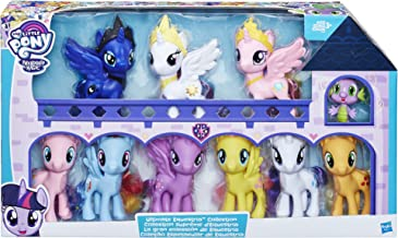 My Little Pony Friendship is Magic Toys Ultimate Equestria Collection – 10 Figure Set Including Mane 6, Princesses, and Sp...