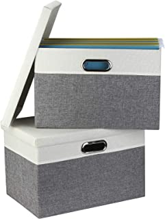 Awekris Storage Office Box Set of 2, File Storage Organizer for Letter