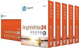 HP Printer Paper 8.5x11 BrightWhite 24 lb 5 Ream Case 2500 Sheets 100 Bright Made in USA FSC Certified Copy Paper HP Compa...