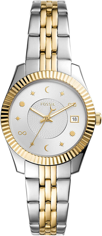 Fossil El Paso Mall Women's Scarlette Special price Mini Stainless Watch Steel Quartz