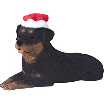 Rottweiler Ornament A Great Gift For Rottweiler Owners Hand Painted and Easily Personalized Doghouse Ornament With Magnetic Back E/&S Imports Inc 35355-33