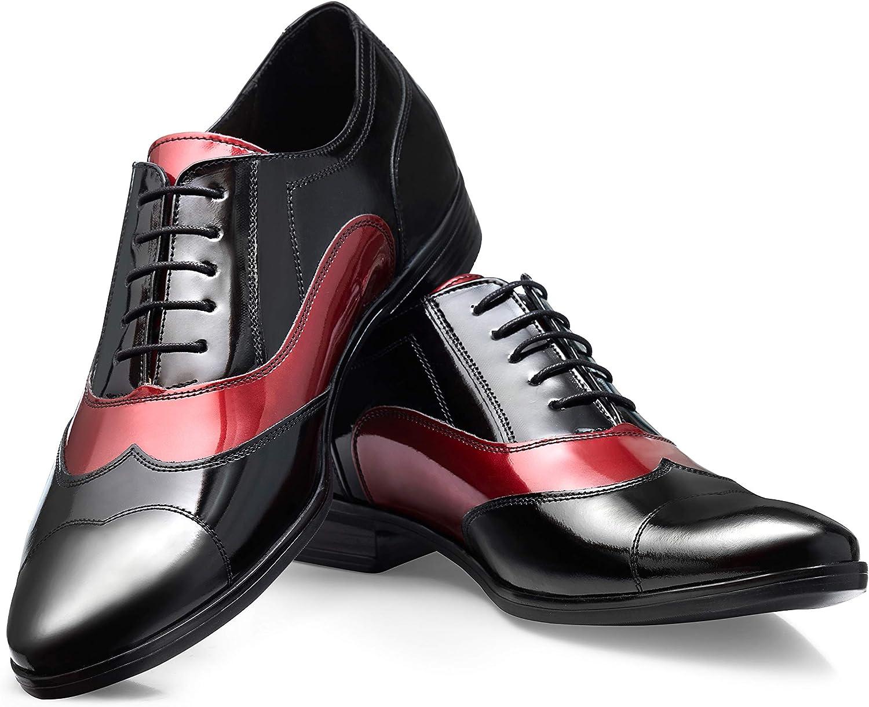 Boldini Men's Oxford Dress Shoes Lace Up Formal Leather Al Capone BR