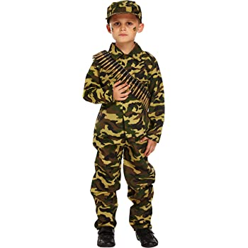 Childs Soldier Fancy Dress Army Costume Kids Boys Paratrooper Outfit by Smiffys