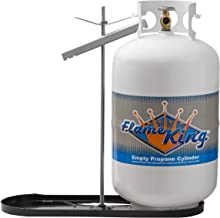 Flame King Dual RV Propane Tank Cylinder Rack For RVs and Trailers for 30lb Tanks - KT30MNT (Tanks not included)
