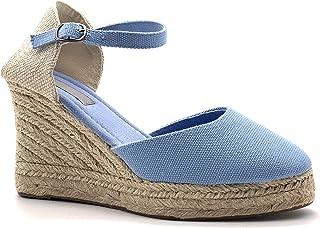 8aedcc2de3a4a6 Angkorly - Chaussure Mode Sandale Espadrille Folk/Ethnique Bohème  Romantique Femme avec de la Paille