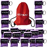 100 Purple CPR Mask with Keychain Face Shield key AED Key Chain Disposable Mask