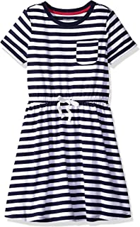 Girl's Short-Sleeve Elastic Waist T-Shirt Dress