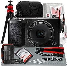 Ricoh GR III Digital Compact Camera, 24mp, 28mm f 2.8 Lens with Flex Tripod & 64GB Deluxe Accessory Bundle
