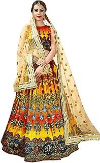 Indian Clothing Store Prasha Fashion Digital Printed Lehenga Choli for Women's (Multi Colour)