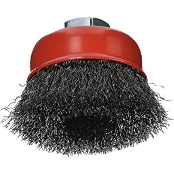 Forney 72757 Wire coarse arbor Cup weld scale rust burrs spatter Remover Brush