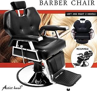 Artist Hand Heavy Duty Barber Chair Recline All Purpose Hydraulic Salon Chair for Hair Stylist Spa Beauty Equipment,Black