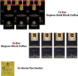 (7) Organo Gold Black Coffee + (4) Nugano Black Coffee with Zero Calories + FREE (9) Organo Gold Green Tea Sample Sachet