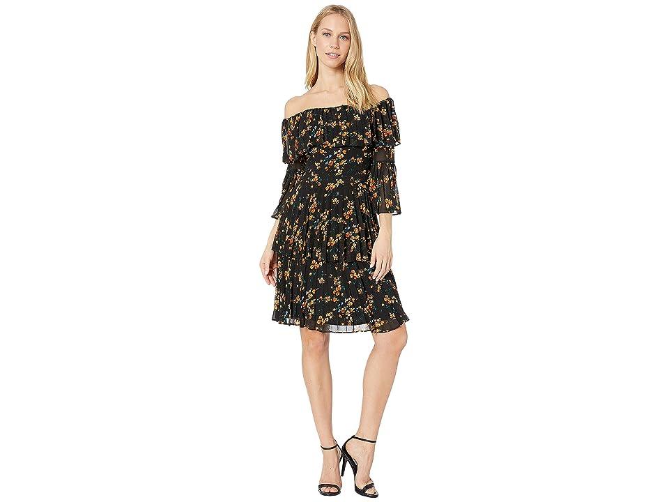 Bardot - Bardot Ditsy Pleat Dress
