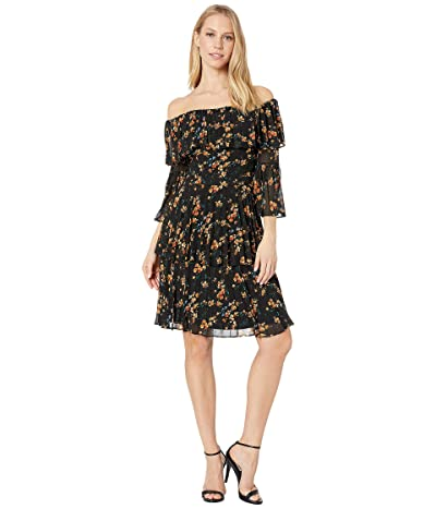 Bardot Ditsy Pleat Dress (Water Floral) Women