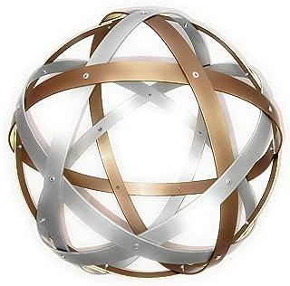 Pentasfera (genesa 6 cerchi), Purificatore energia, 32 cm diametro, Argento e Bronzo