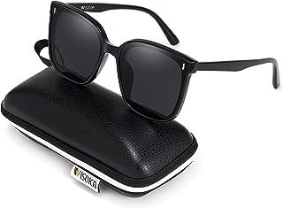 Polarized Sunglasses for Men and Women Retro Large Frame...