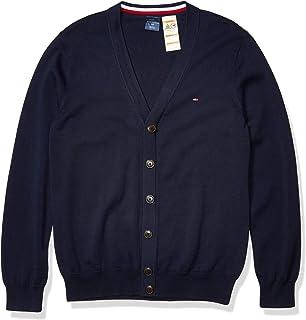 New NWT TOMMY HILFIGER Womens Cardigan Sweater Pima Cotton Blazer Jacket Stripes