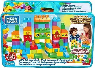Mega FVJ49 - Let´s get learning! 150-bitars byggleksaker, pedagogisk leksak för småbarn för att lära sig färger former och...