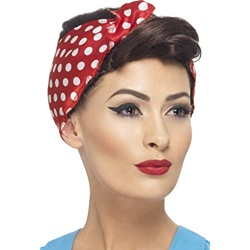 a0f5882e4272b Smiffys 40 s Rosie Wig with Headscarf - Brown