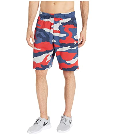 Nike NSW Club Shorts Camouflage (Wolf Grey/Midnight Navy/Summit White) Men