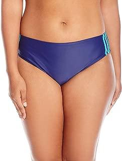 adidas Women's Plus-Size Light as A Heather Sport Hipster Bikini Bottom