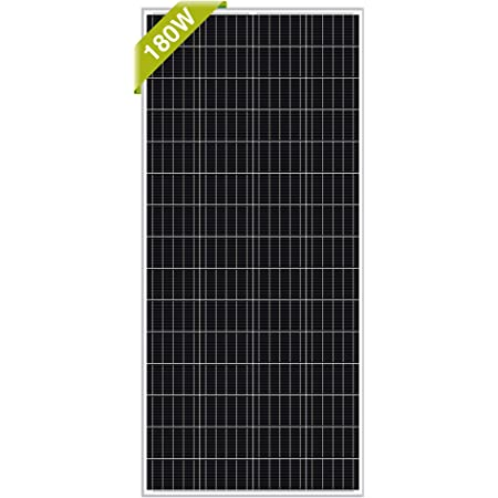 Newpowa 180W RV Solar Panel 180 Watt 12V Monocrystalline High Efficiency Mono Module Off Grid