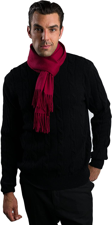 JENNIE LIU Men's Watermark Cashmere Woven Scarf