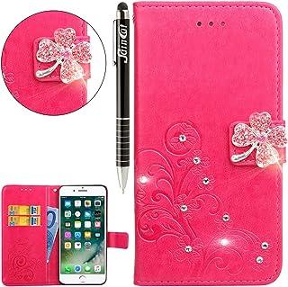 SainCat Cover Compatibile con iPhone XR Custodia Libro Glitter
